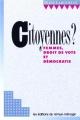 Couverture : Citoyennes? : femmes, droit de vote et démocratie Diane Lamoureux