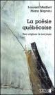 Couverture : Poésie québécoise (La): des origines à nos jours  Mailhot & Nepveu