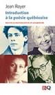 Couverture : Introduction à la poésie québécoise Jean Royer