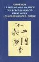 Couverture : Très grande solitude de l'écrivain pragois Franz Kafka (La) André Roy