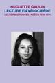 Couverture : Lecture en vélocipède Huguette Gaulin