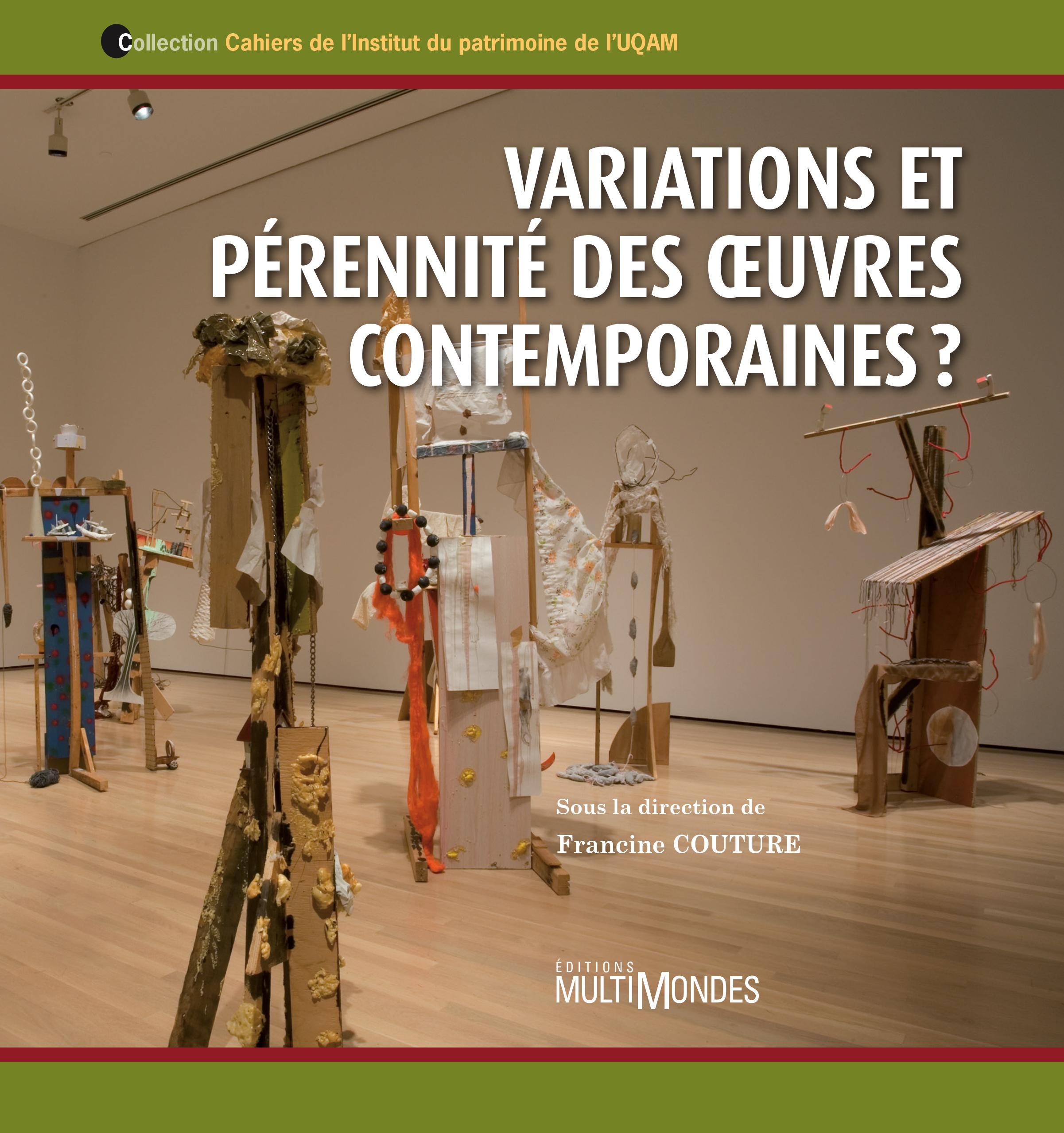 Couverture : Variations et pérennité des oeuvres contemporaines  ,