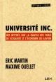 Couverture : Université inc. Maxime Ouellet, Éric Martin