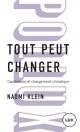 Couverture : Tout peut changer Naomi Klein
