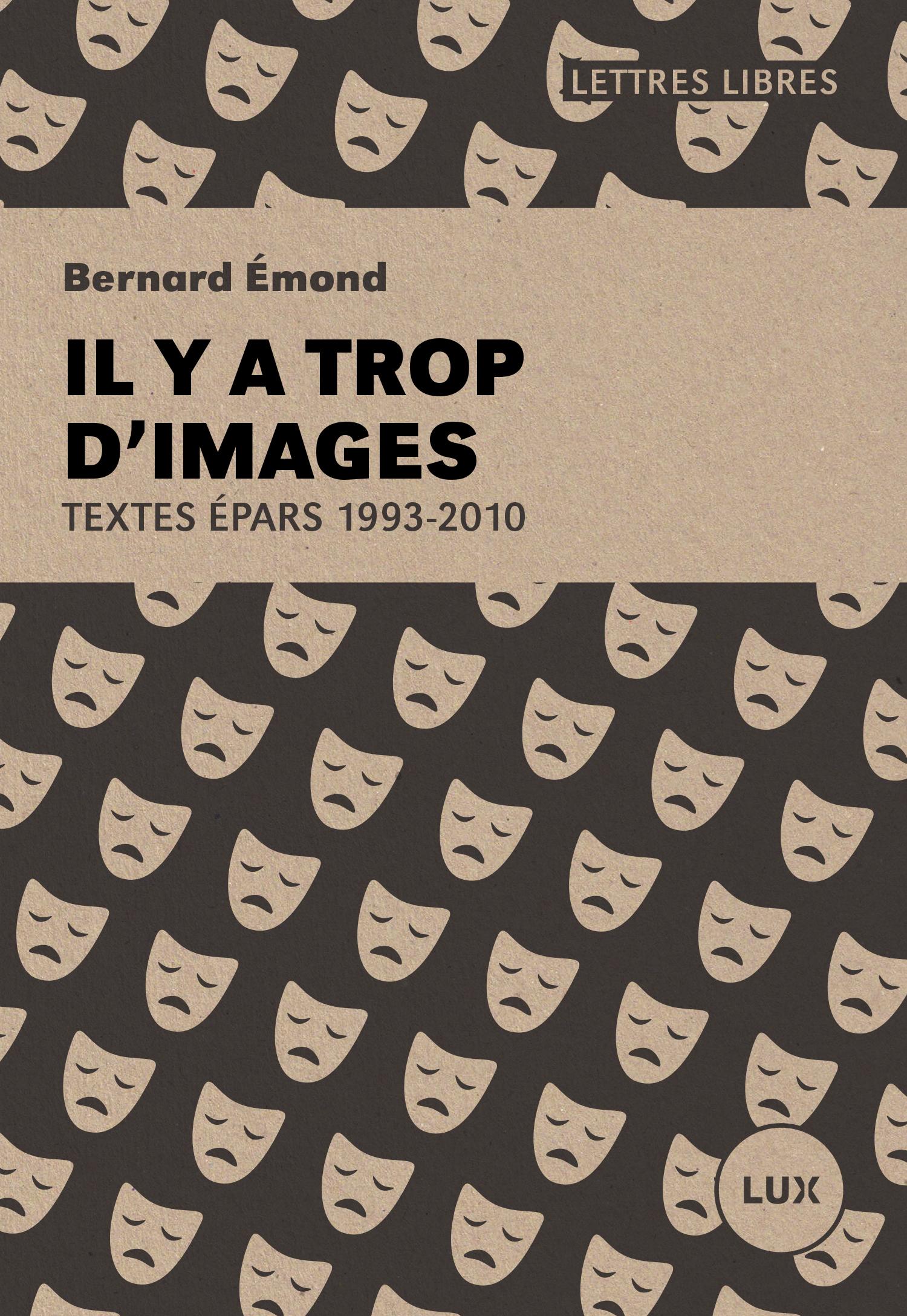 Couverture : Il y a trop d'images: Textes épars 1993-2010 Bernard Émond