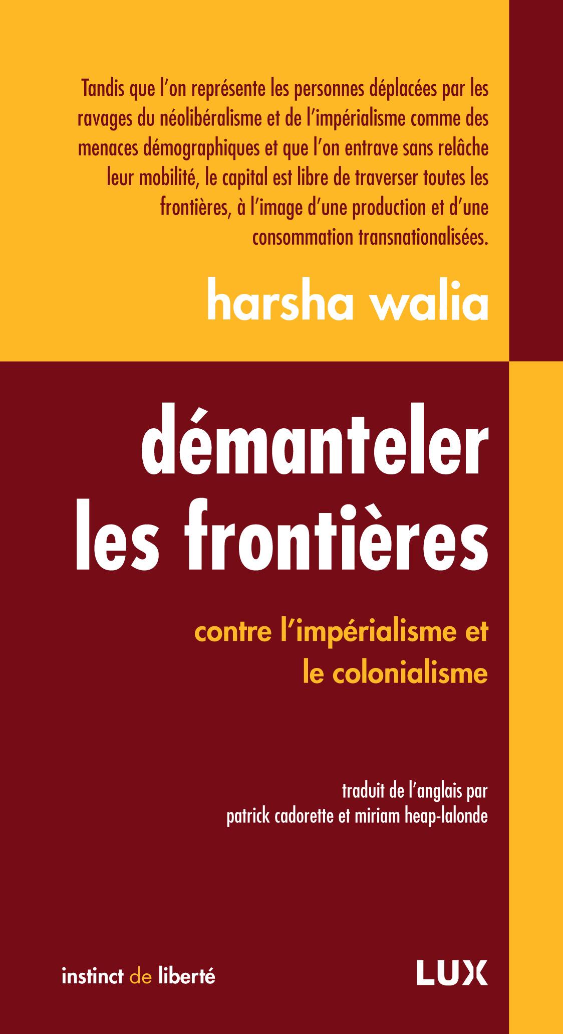 Démanteler les frontières contre l'impérialisme et colonialisme