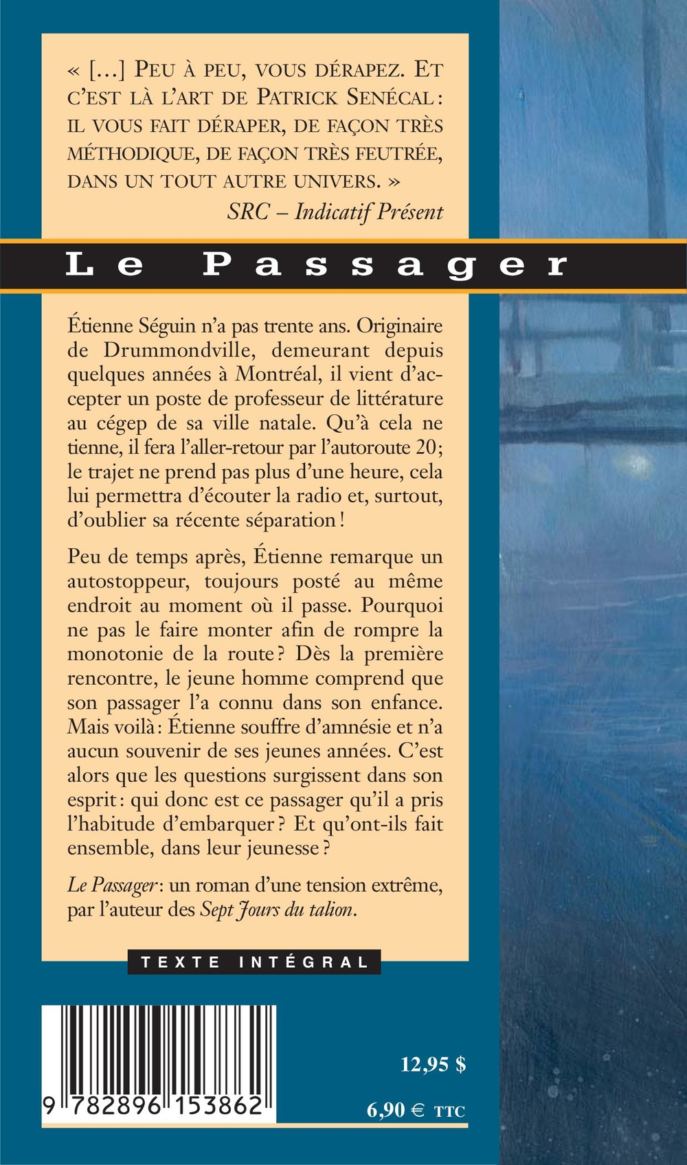 Passager (Le) - Patrick Senécal revers