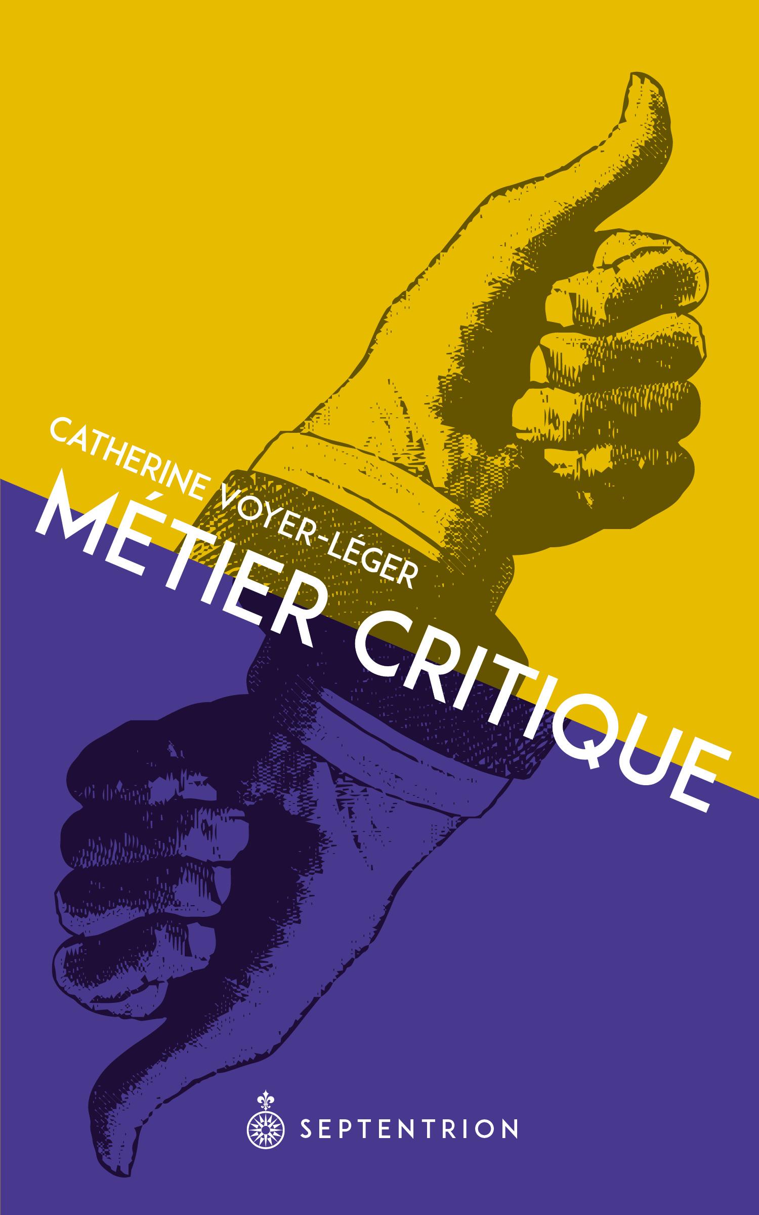 Couverture : Métier critique Catherine Voyer-léger