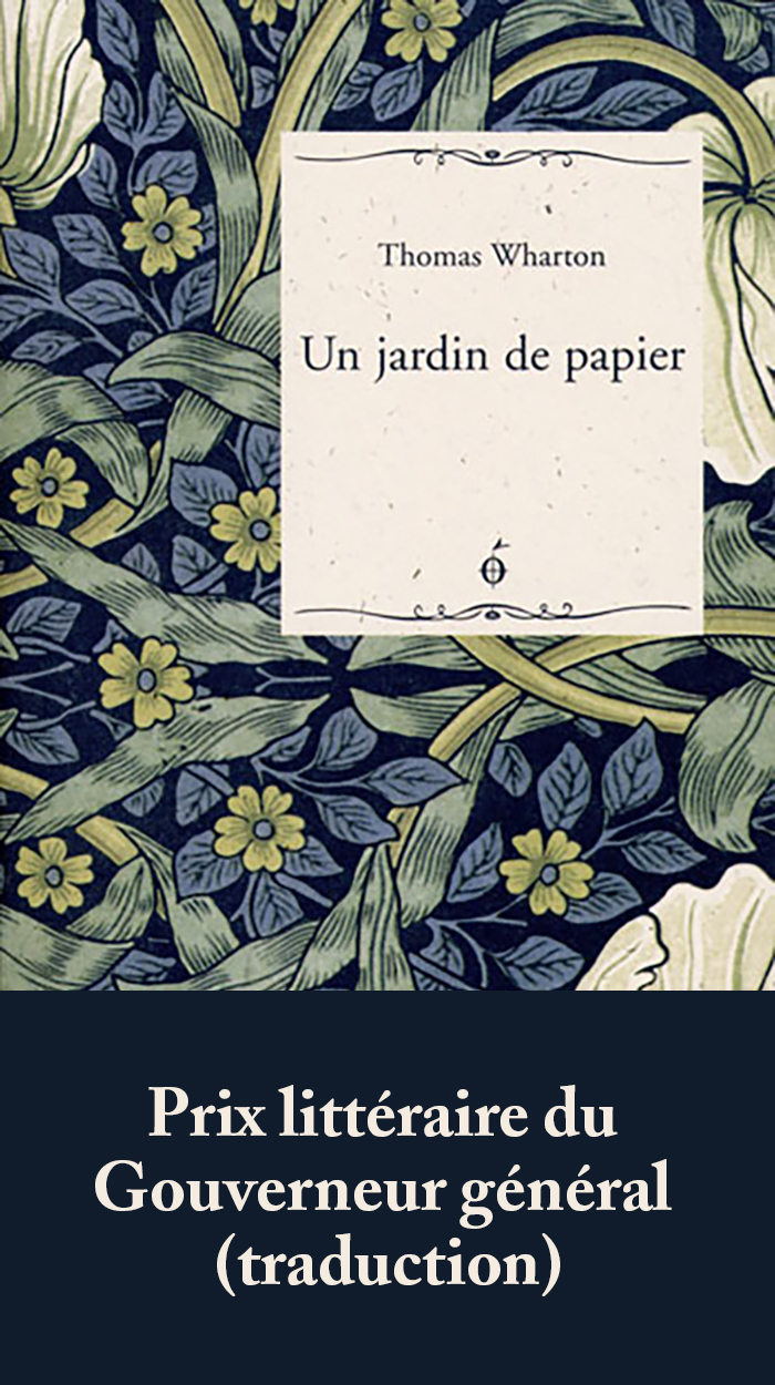 Couverture : Un jardin de papier Thomas Wharton