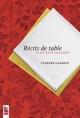 Couverture : Récits de table: D'ici et d'ailleurs Lysiane Gagnon