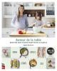 Couverture : Autour de la table : recettes sans viande pour toute la famille Sophie Ducharme, Simon Pérusse