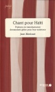 Couverture : Chants pour Haïti Jean Morisset