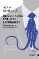 Couverture : De quoi Total est-elle la somme?: multinationale et perversion... Alain Deneault