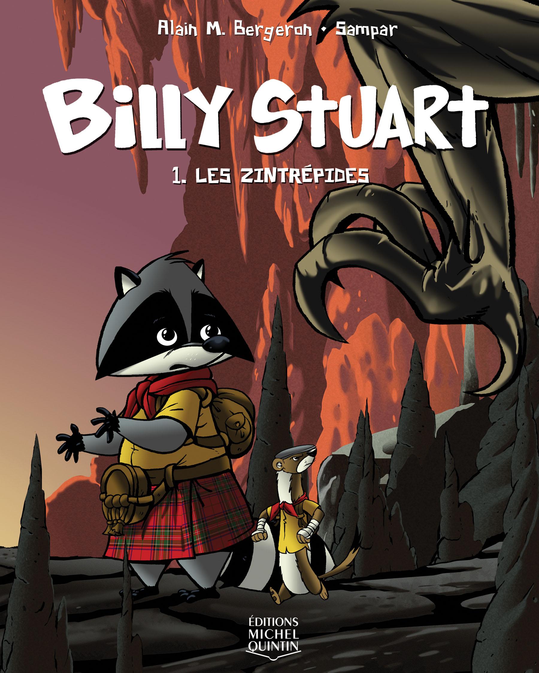 Couverture : Billy Stuart T.1 : Les Zintrépides Alain M. Bergeron,  Sampar