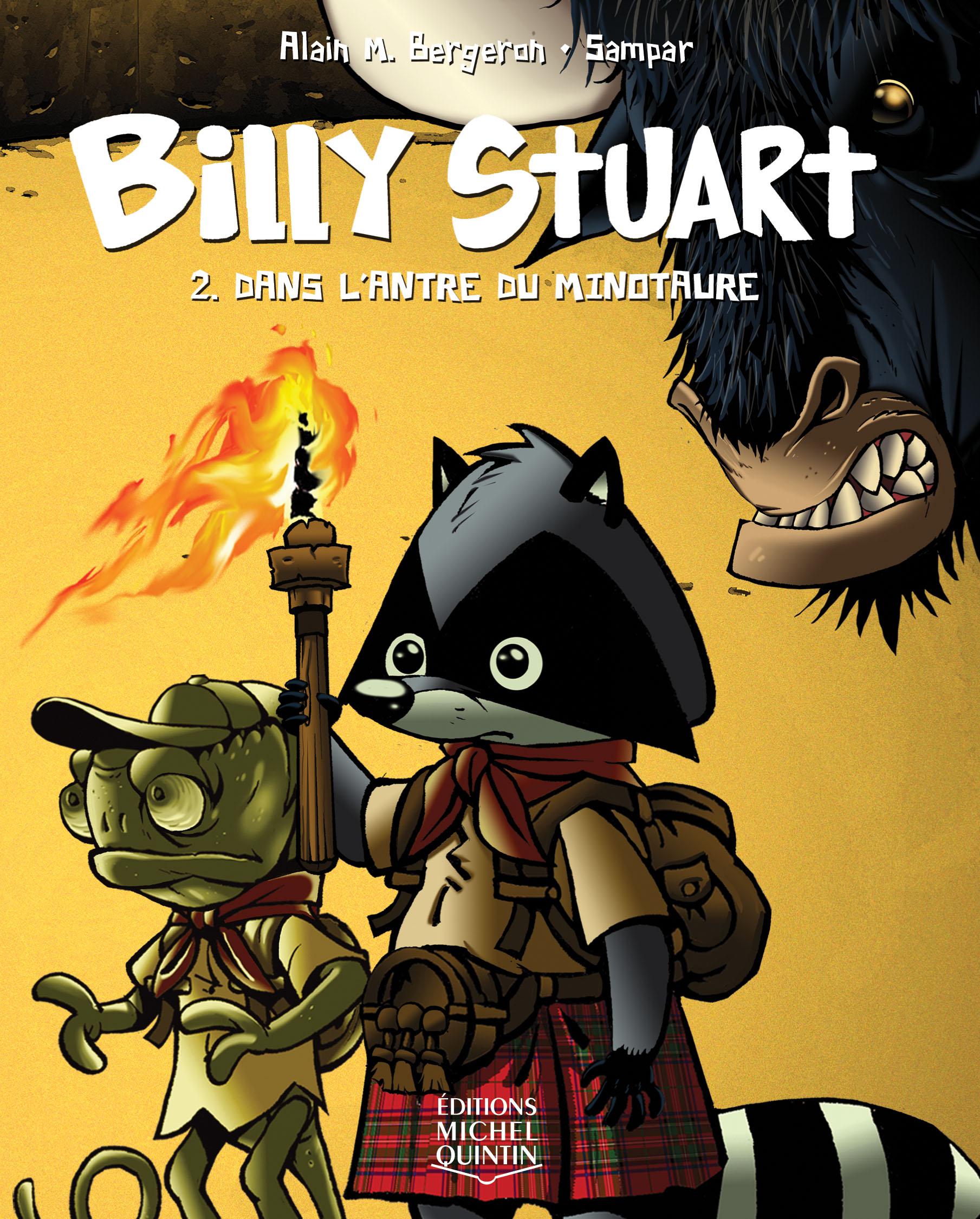 Couverture : Billy Stuart T.2 : Dans l'antre du minotaure Alain M. Bergeron,  Sampar