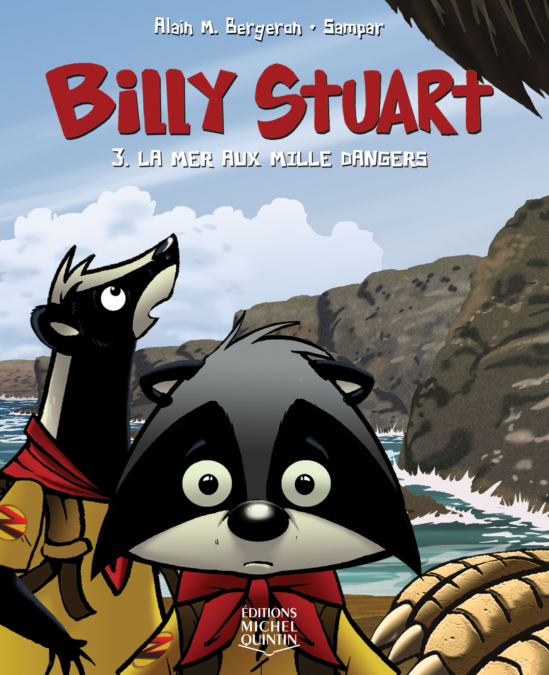 Couverture : Billy Stuart T.3 : La mer aux mille dangers Alain M. Bergeron,  Sampar