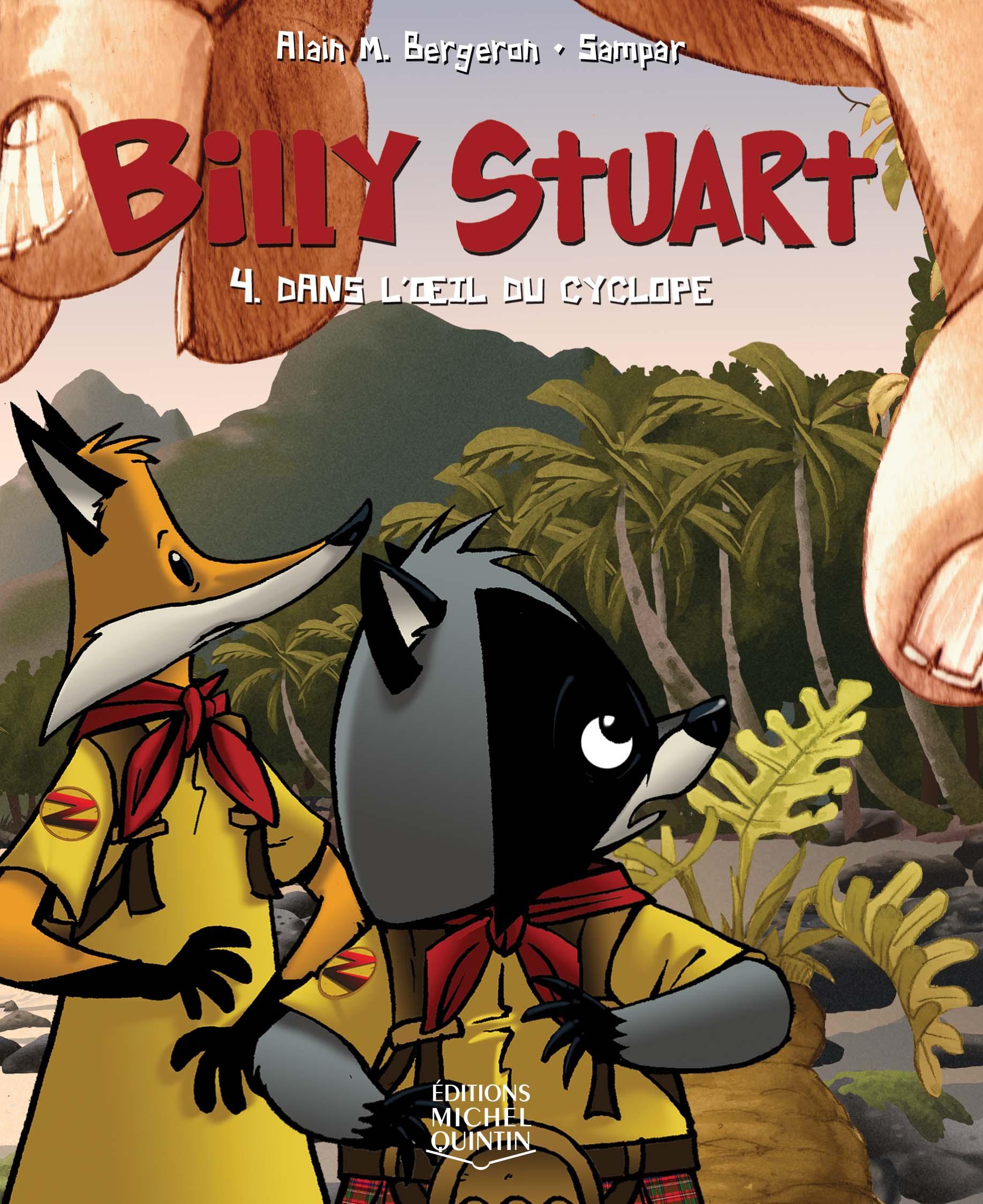Couverture : Billy Stuart T.4 : Dans l'oeil du cyclope Alain M. Bergeron,  Sampar
