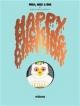 Couverture : Megg, Mogg and Owl. Happy Fucking Birthday Simon Hanselmann
