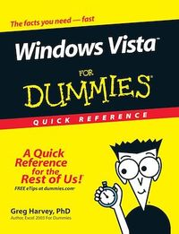 Vignette du livre Windows Vista For Dummies Quick Reference