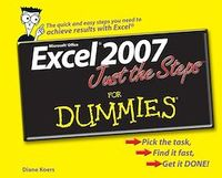 Vignette du livre Excel® 2007 Just the Steps<small>TM</small> For Dummies®