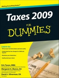 Vignette du livre Taxes 2009 For Dummies - Eric Tyson, Margaret A. Munro, David J. Silverman