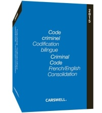 Vignette du livre Code criminel codification bilingue 2015 FR/ANG