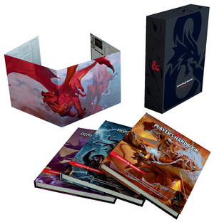 Vignette du livre Dungeons & Dragons Core Rulebooks Gift Set (Special Foil Covers Edition with Slipcase, Player's Handbook, Dungeon Master's Guide, Monster Manual, DM Screen)