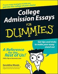 Vignette du livre College Admission Essays For Dummies