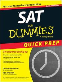 Vignette du livre SAT For Dummies 2015 Quick Prep