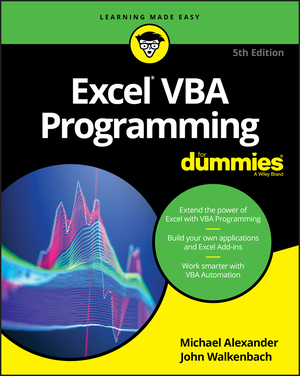 Vignette du livre Excel VBA Programming For Dummies