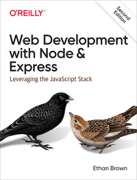 Vignette du livre Web Development with Node and Express