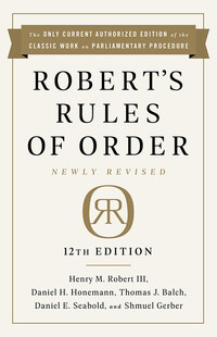 Vignette du livre Robert's Rules of Order Newly Revised, 12th edition