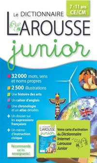 Le dictionnaire Larousse junior, 7-11 ans, CE-CM: version plus