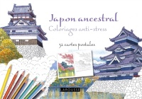Vignette du livre Japon ancestral: coloriages anti-stress : 32 cartes postales