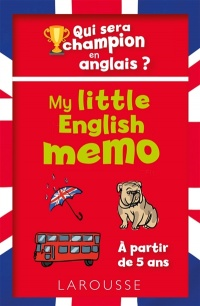 Vignette du livre My Little English Memo : qui sera champion en anglais ?