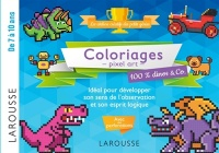 Vignette du livre Coloriages pixel art : 100% dinos & Co