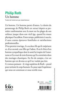 Un Homme - Philip Roth revers
