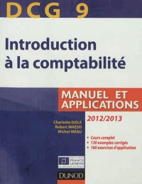 Vignette du livre DCG 9, introduction à la comptabilité: manuel et applications - Charlotte Disle, Robert Maéso, Michel Méau