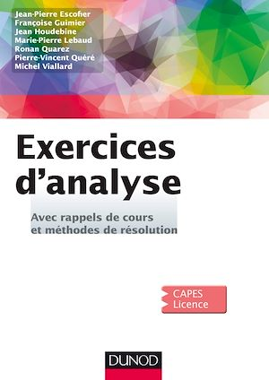 Exercices d'Analyse, Françoise Guimier