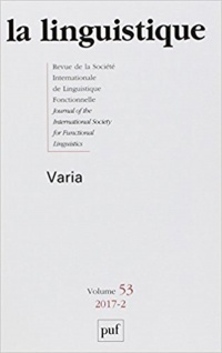 La linguistique, No 2 (2017): Varia