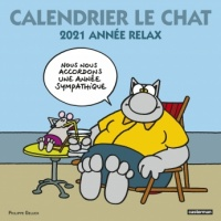 Calendrier Le Chat 2021 : année relax - Philippe Geluck