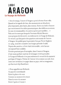 Voyage En Hollande -Le - Louis Aragon revers