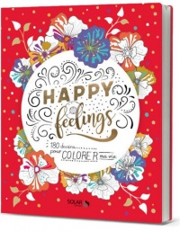 Vignette du livre Happy Feelings : 180 dessins pour colorer ma vie