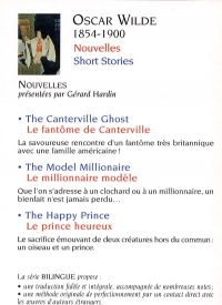 Nouvelles / Short Stories - Oscar Wilde revers