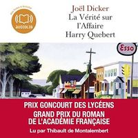 Vignette du livre La vérité sur l'affaire Harry Quebert  2 CD mp3  (21h15) - Joël Dicker