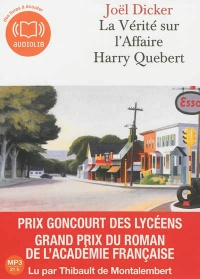 Vignette du livre Vérité sur l'affaire Harry Quebert (La)  2 CD mp3  (21h15) - Joël Dicker