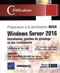 Vignette du livre Windows Server 2016 : installation, gestion du stockage...