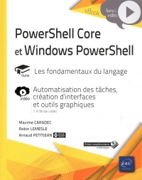 Vignette du livre PowerShell Core et Windows PowerShell