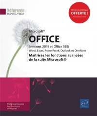 Vignette du livre Microsoft Office (versions 2019 et Office 365)