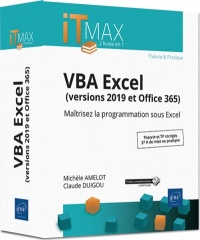 Vignette du livre VBA Excel (version 2019 et Office 365)
